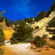 Les canyons d'ocre du colorado provençal à Rustrel